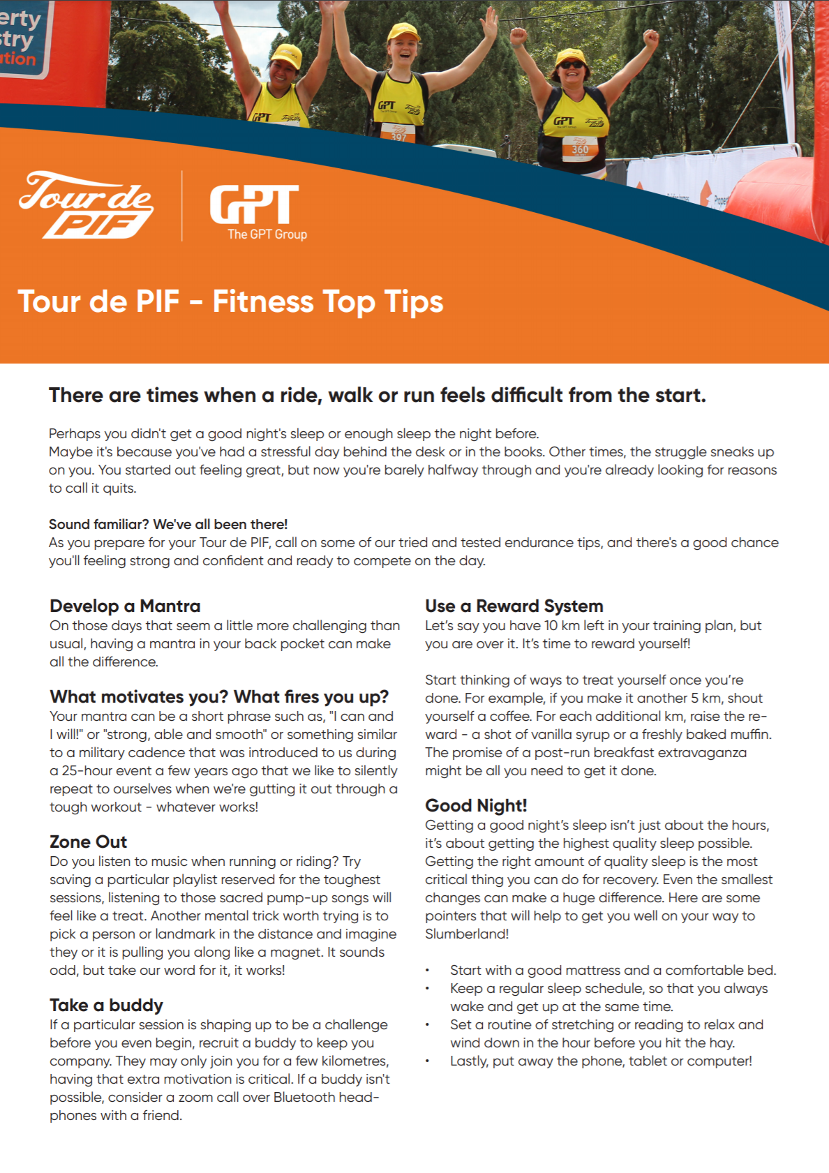 TDP Fitness tips